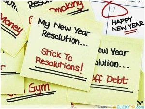 2015 new year resolution quotes sticky note - hand painted stick to resoltions-f37665