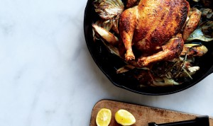 skillet-roast-chicken-with-fennel-parsnips-and-scallions-940x560