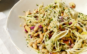 Beans-with-Fennel-and-Almonds