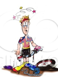 10802-Sad-And-Stunned-Male-Biker-Clutching-The-Handles-To-His-Damaged-Mountain-Bike-Clipart-Illustration